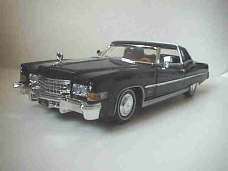 Cadillac on 1973 Cadillac Eldorado Ansi 1 8 Scale Black