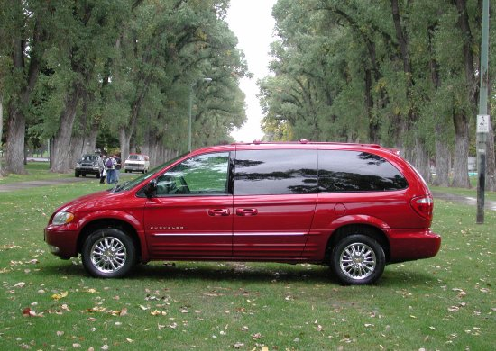 2001 Chrysler Town Country Limited Crimson Red